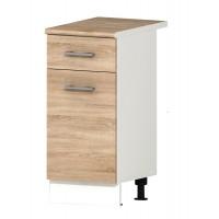 Долен кухненски шкаф 40 см с една врата с термо-устойчив плот АЛИС В4