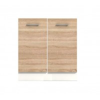Долен кухненски шкаф 60 см с две врати без термо-устойчив плот АЛИС В51