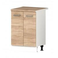 Долен кухненски шкаф 60 см с две врати с термо-устойчив плот АЛИС В51