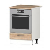 Долен кухненски шкаф за фурна за вграждане 60 см с термо-устойчив плот АЛИС В7