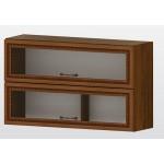 РАВЕНА G 38 горен кухненски шкаф 100 см с 2 клапващи витрини