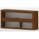 РАВЕНА G 39 горен кухненски шкаф 120 см с 2 клапващи витрини