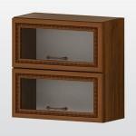 РАВЕНА G 36 горен кухненски шкаф 60 см с 2 клапващи витрини