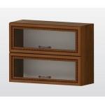 РАВЕНА G 37 горен кухненски шкаф 80 см с 2 клапващи витрини