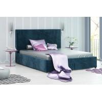 Тапицирана спалня с чекмеджета Велато Блу