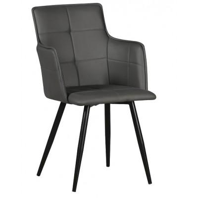 Стол К 300 тъмно сивa еко кожа