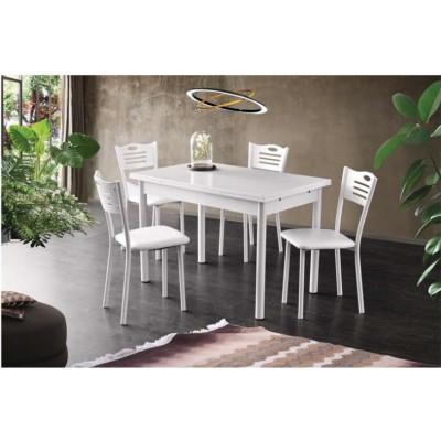Разтегателна Маса + 4 стола Mizia I бял