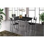 Разтегателна Маса + 4 стола Mizia I черен