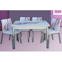 Разтегателна Маса + 4 стола Nora I
