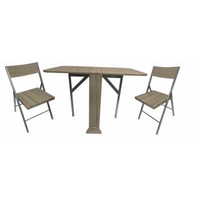 Сгъваем комплект маса и два стола ХД