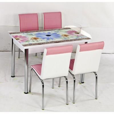 Комплект маса с 4 стола CB 002