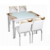 Комплект маса с 4 стола CB 019
