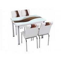 Комплект маса с 4 стола CB 018