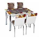 Комплект маса с 4 стола CB 043