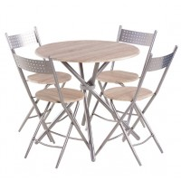 Комплект маса с 4 сгъваеми стола Carmen 20016