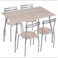 Комплект маса с 4 стола Carmen 20014