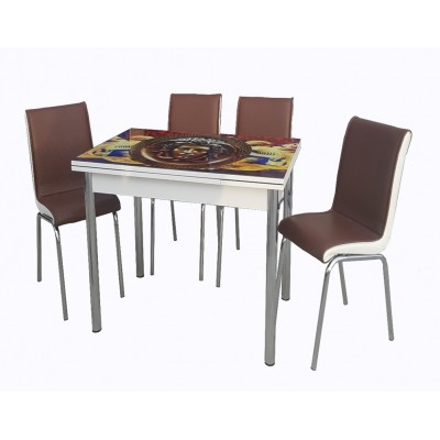 Разтегателна Маса + 4 стола Версаче