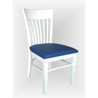 Бял трапезарен стол Атина