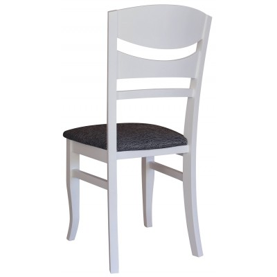 Трапезен стол Хела бял/ черен