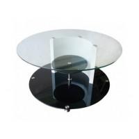 Холна маса със стъклени плотове D602
