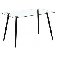 Трапезарна маса от стъкло HANS BLACK