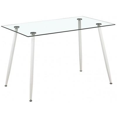 Трапезарна маса от стъкло HANS WHITE