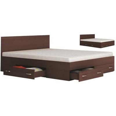 Аполо 10 спалня с чекмеджета цвят венге амбър