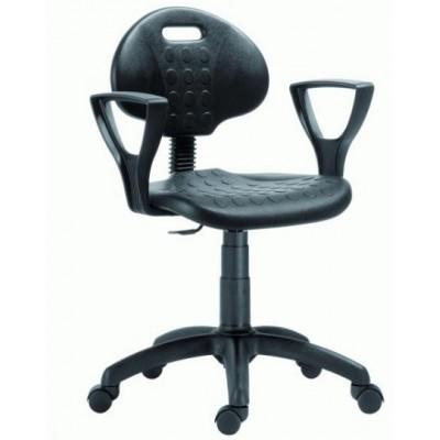 Работен стол 1290 PU NOR с подлакътници и EXTEND RING