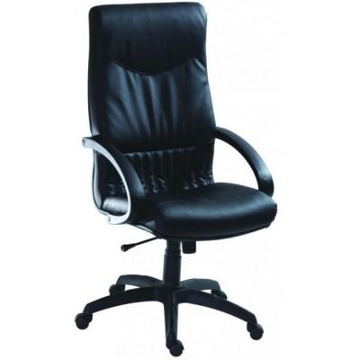 5700 Мениджърско кресло черна естествена кожа