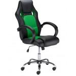 Офис стол Race steel зелено/ черно