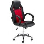Офис стол Race steel червено/ черно