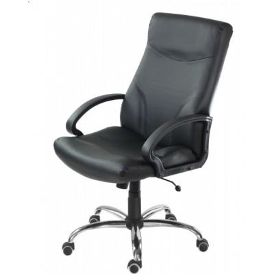 Мениджърско кресло Stilo P CR черна естествена кожа