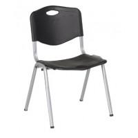 Посетителски стол Carmen 9931 пластмасови седалка и обелгалка