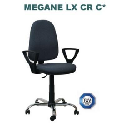 Офис стол с подлакътници и метална кръстачка Megane LX /+BR 25/ CR