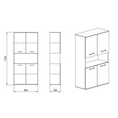 Модул Гранд 16 - шкаф