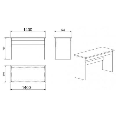 Модул Гранд М 43 - бюро за офис 140 см