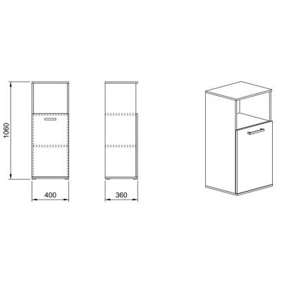 Модул Гранд М 59 - шкаф