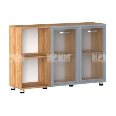 Офис модул 12 шкаф за документи витрина с МДФ профил