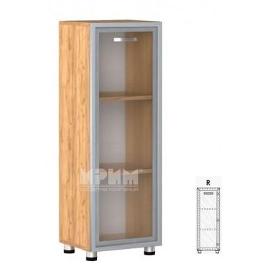 Офис модул 18 десен/ витрина с МДФ профил