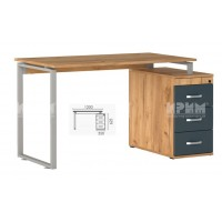 Офис модул 182 бюро с метални страници и контейнер 130/70 см