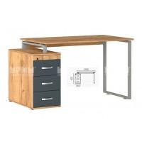 Офис модул 183 бюро с метални страници и контейнер 130/70 см
