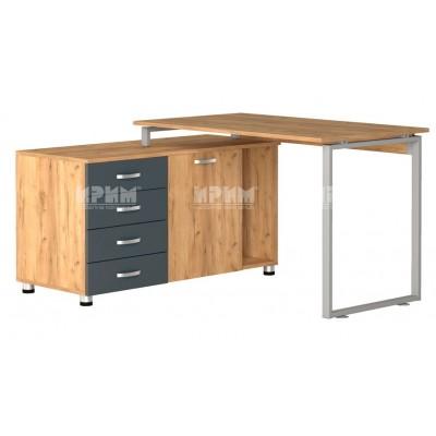 Офис модул 185 ъглово бюро с метални страници и контейнер 138.5/120 см