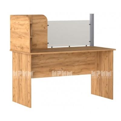 Офис модул 204 бюро с преграда 140х65 см