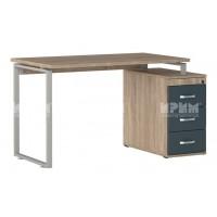 Офис модул 257 бюро 130/70 см с работен плот с дебелина 25 мм, метални страници и контейнер