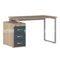 Офис модул 258 бюро 130/70 см с дебелина на работен плот 25 мм, метални страници и контейнер