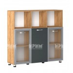 Офис модул 26 шкаф за документи витрина с МДФ профил
