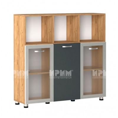 Офис модул 25 шкаф за документи витрина с алуминиев профил