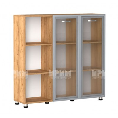 Офис модул 28 шкаф за документи витрина с МДФ профил