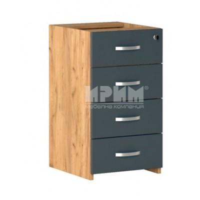 Офис модул 285 носещ контейнер с 4 чекмеджета със заключване