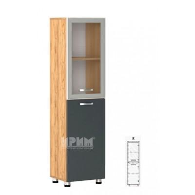 Офис модул 32 десен/ витрина с алуминиев профил